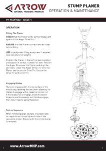 Stump Planer Manual
