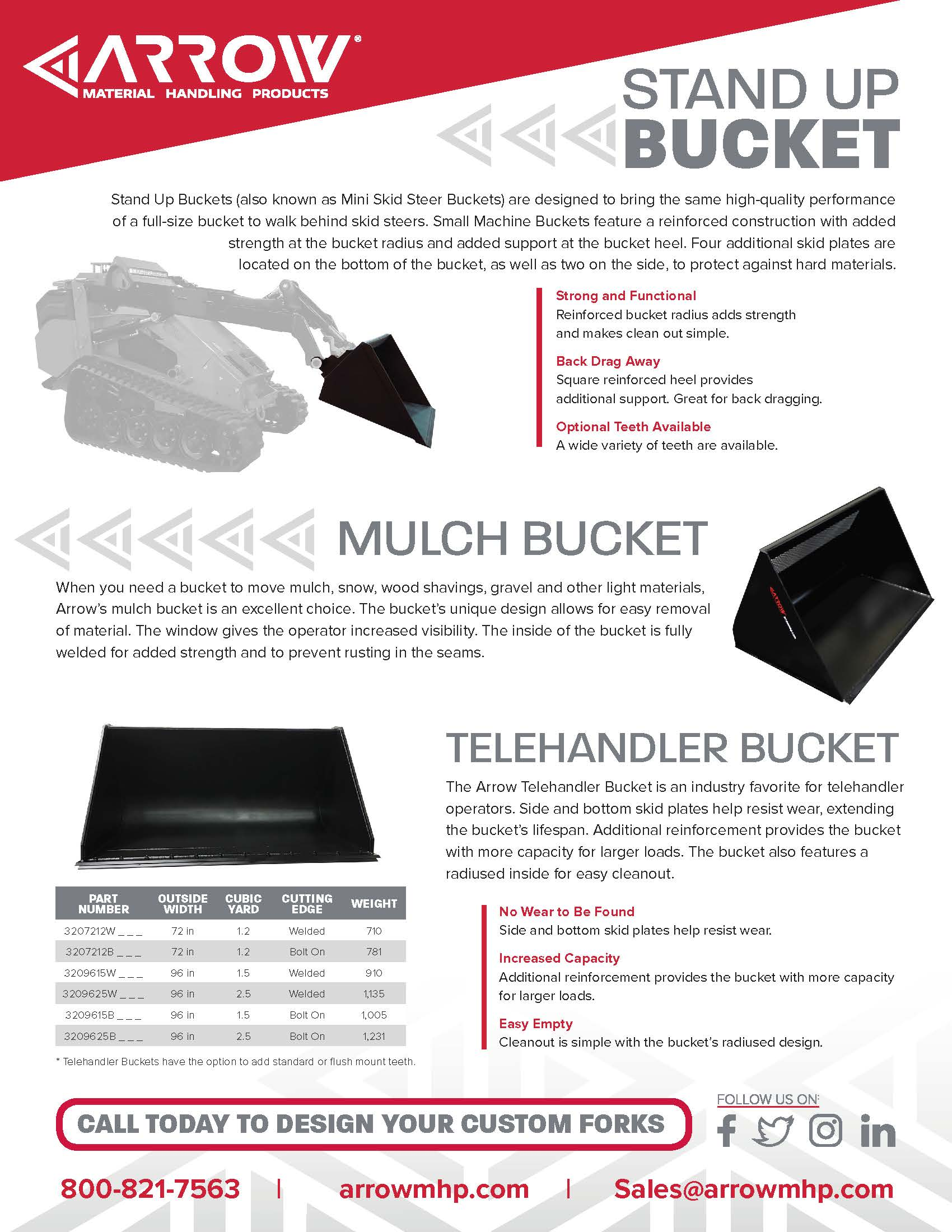Telehandler Buckets