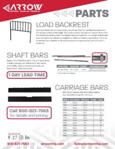 Load Backrests, Shaft Bars & Carriage Bars